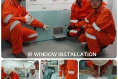 IR Window Instatllation combine photos