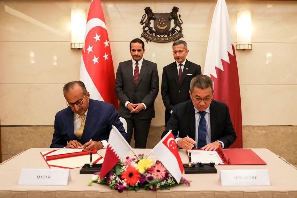 Signing Ceremony for Establishment of Megawatts MENA at Singapore Ministry of Foreign Affairs